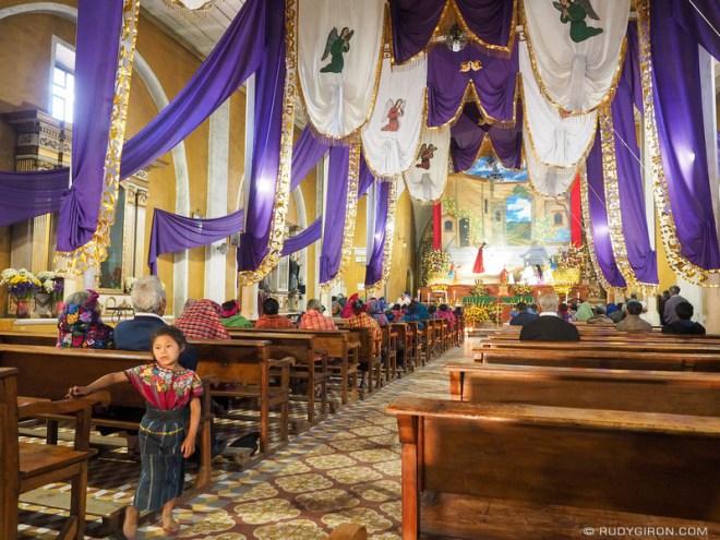 Rudy Giron: Antigua Guatemala &emdash; Cuaresma decoration inside the church of Santa María de Jesús
