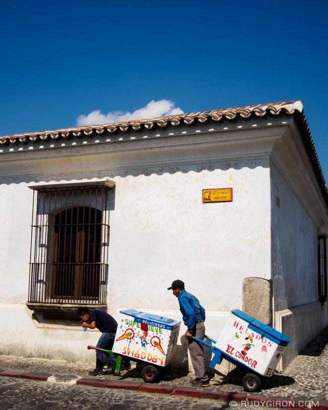 Rudy Giron: Antigua Guatemala &emdash; Traditional Guatemalan ice cream carts