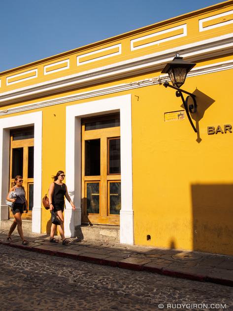 Rudy Giron: Antigua Guatemala &emdash; Yellow and blue from Antigua Guatemala