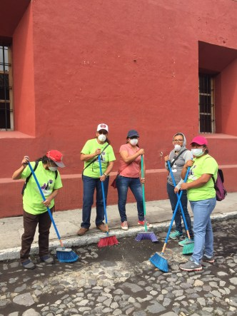 Cleaning up Crews in Antigua Guatemala by Rudy Giron
