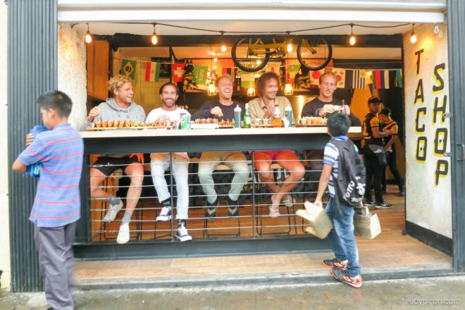Taco Shop in Antigua Guatemala at taco shop by Rudy Giron
