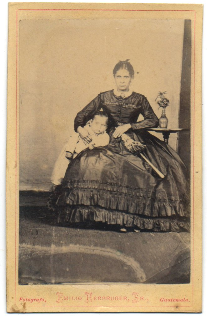 Guatemalan mother and son from the 1880s by Emilio Herbruger Sr.