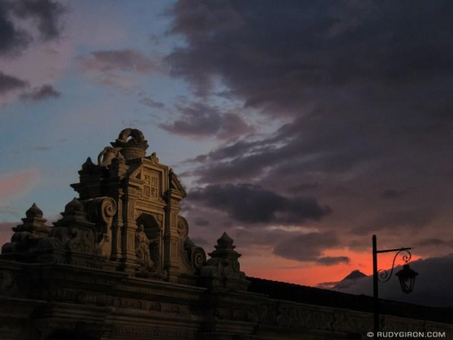 Rudy Giron: Antigua Guatemala &emdash; Baroque architecture at sunset