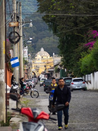 The Complete Calle del Arco in Antigua Guatemala by Rudy Giron