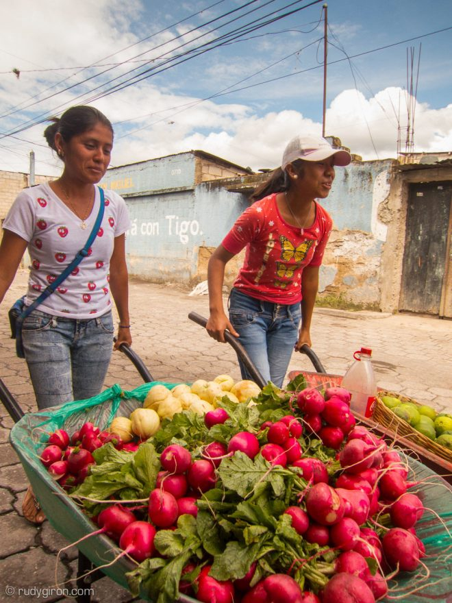 Fresh produce home deliveries in Antigua Guatemala by Rudy Giron