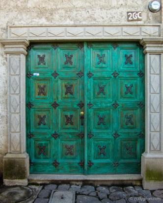 Green door from San Gaspar, Antigua Guatemala by Rudy Giron