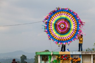 Giant Kites Fly High Above The Mayan Graveyards of Guatemala by Rudy Giron