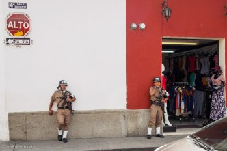 Military Police patrols the streets of Antigua Guatemala by Rudy Giron