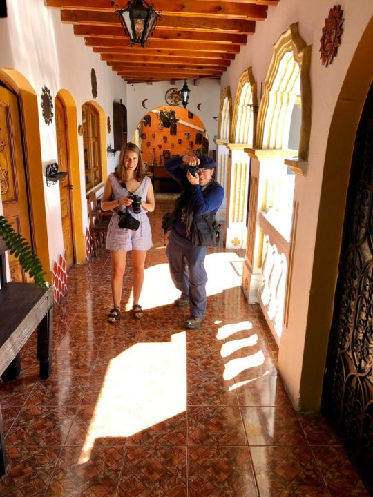 Behind the scenes of a street photo shoot in Antigua Guatemala made by Anouk.