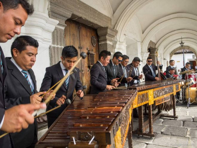 Live Marimba Music at Palacio del Ayuntamiento in Antigua Guatemala BY RUDY GIRON