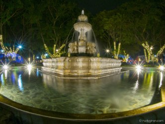 Fisheye view of Fuente de Las Sirenas in Antigua Guatemala BY RUDY GIRON
