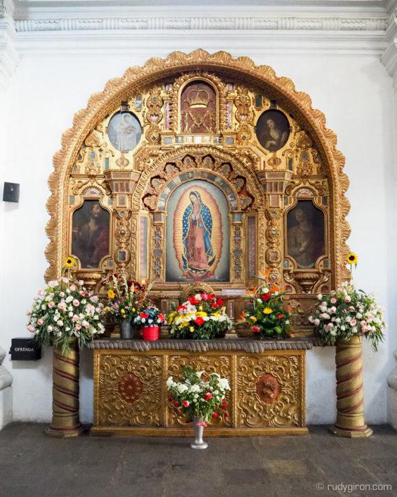 Retablo Nuestra Señora de Guadalupe en Iglesia San Francisco El Grande, Antigua Guatemala BY RUDY GIRON