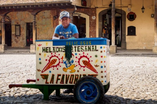 Quotidian Vistas from Antigua Guatemala — Traditional Ice Cream Carts BY RUDY GIRON