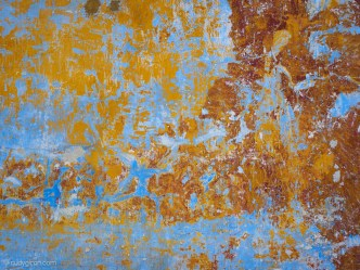 Textures of Antigua Guatemala — Light blue, yellow and red BY RUDY GIRON