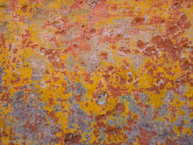 Textures of Antigua Guatemala — reds, yellows and blues BY RUDY GIRON