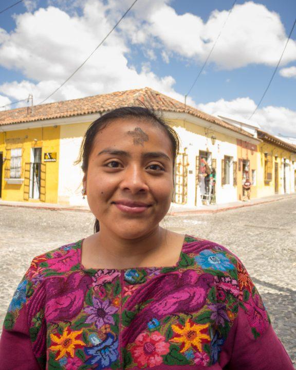 Ash Wednesday in Antigua Guatemala BY RUDY GIRON
