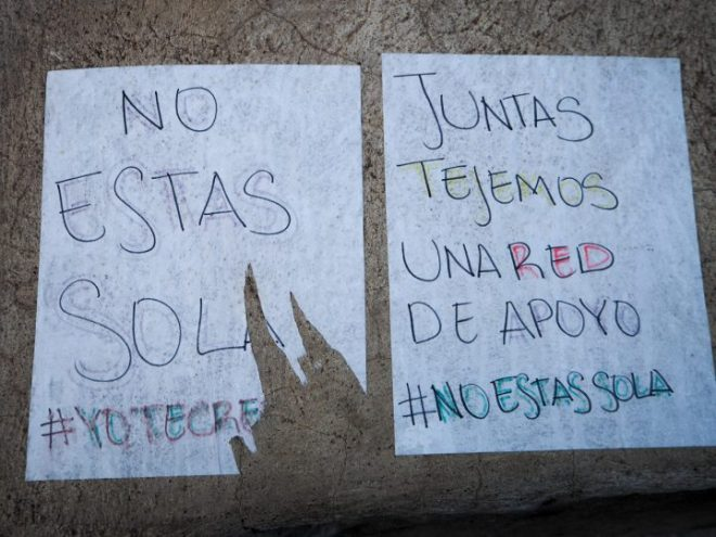 Graffiti for International Women's Day in Antigua Guatemala BY RUDY GIRON