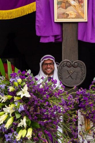 The Last Semana Santa Vistas — Framed Cucurucho BY RUDY GIRON