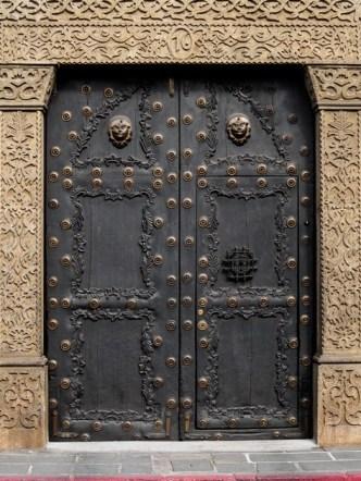 PHOTO STOCK: Architectonic Details of Antigua Guatemala — Baroque Doorway