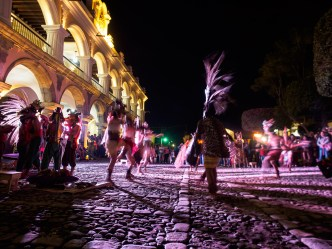 Pre-Hispanic Dances at Parque Central, Antigua Guatemala BY RUDY GIRON