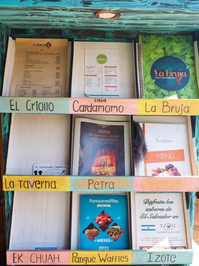 Menus from Centro Gastronómico La Fuente BY RUDY GIRON