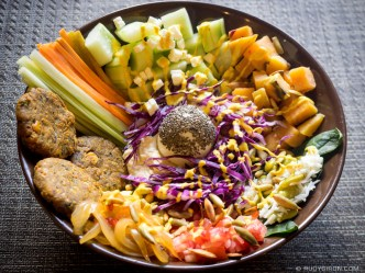 Photo Stock: Falafel Bowl Salad