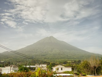 PHOTO STOCK: Sahara Dust Clouds in Antigua Guatemala