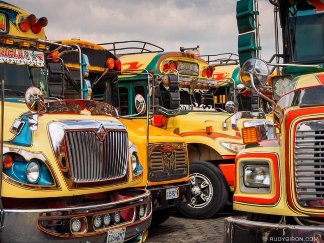 Win a Beautiful Metallic Print of The Colorful Bus Terminal in Antigua Guatemala