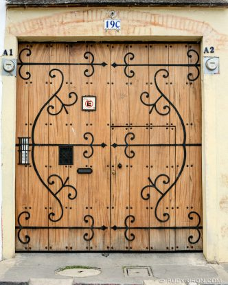 Ironworks on Wooden Door from Antigua Guatemala