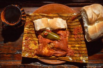 PHOTO STOCK: Guatemalan Tamales with bread and coffee