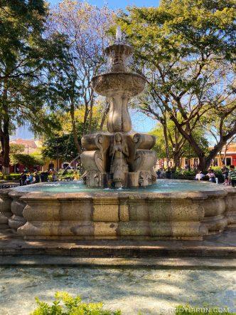 PHOTO STOCK: Fuente de Las Sirenas at Parque Central in Antigua Guatemala