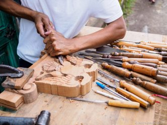 PHOTO STOCK: Woodcarver at Work in San Gaspar Vivar
