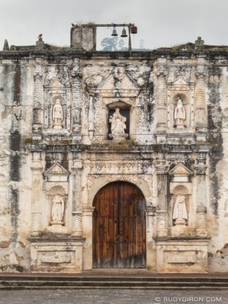 PHOTO STOCK: Façade of Parroquia de San Gaspar Vivar in Antigua Guatemala