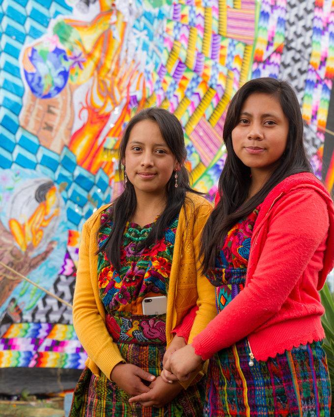 PHOTO STOCK: Colorful Portrait of Maya Girls