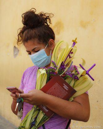 PHOTO STOCK: Palm Sunday Bouquets from Antigua Guatemala