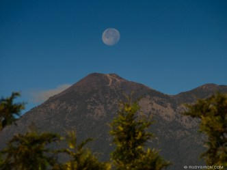 PHOTO STOCK: Full Moonset over A Volcano by RUDY GIRON