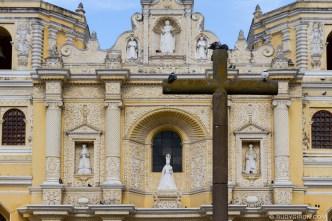 PHOTO STOCK: Details of the Façade of Iglesia de La Merced