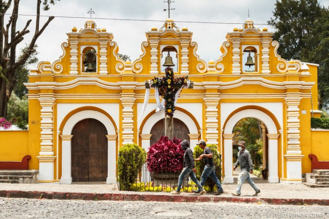 PHOTO STOCK: Day of the Holy Cross Decorations in Antigua Guatemala