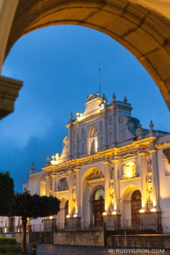 PHOTO STOCK: Framed Façade of the Former Cathedral of Santiago de Guatemala