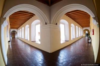 Fisheye View of the Corridors of Compañía de Jesús by RUDY GIRON