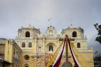 Decorated Façade of Iglesia de La Merced