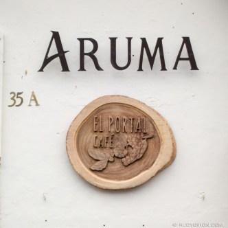 Handmade Sign — Aruma Portal del Café