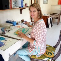 INTERVIEW: Soaring with the Birds SALLIE HARKER, artist in Antigua.