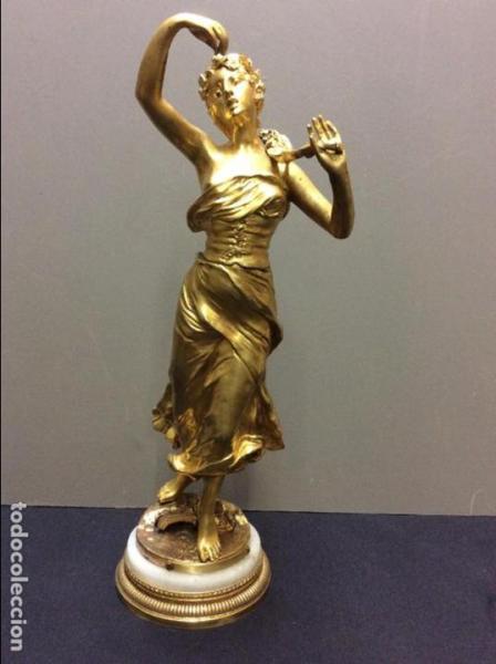 Escultura Bronce Dorado. Fdo. Levasseur