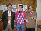 Borja Fernández Trueba con D. Álvaro Barbés y D. Iñaki Pérez