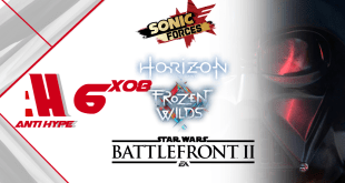 Antihype 6x08: Sonic Forces, Horizon Zero Dawn: Frozen, Star Wars: Battlefront 2.