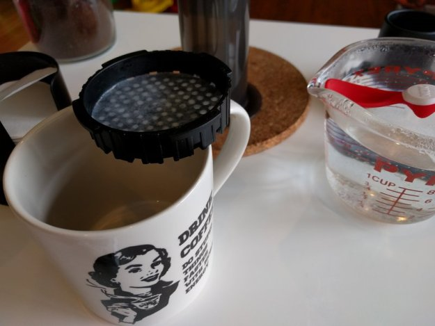 Wet Aeropress filter