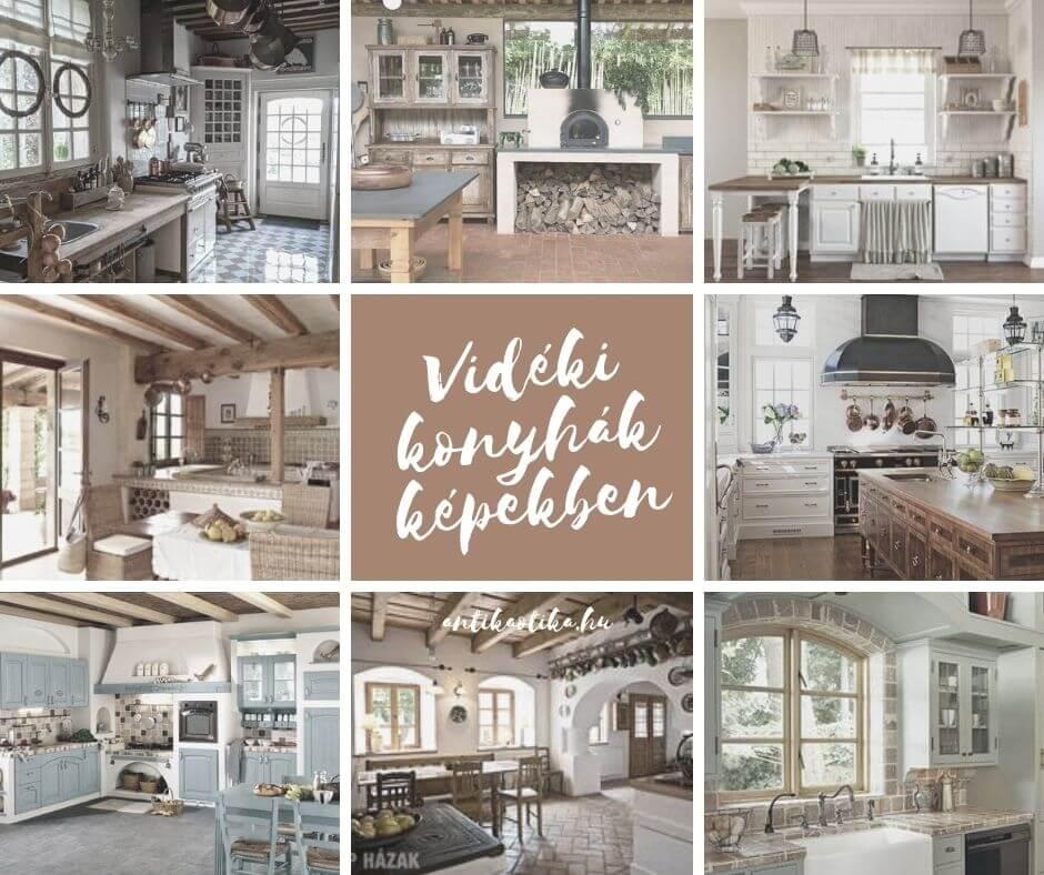 Milyen a vidéki konyha berendezése? Színek, anyagok, bútorok, kiegészítők a vidéki, rusztikus, country, provanszi (provence) stílusú konyhához képekkel, ötletekkel.