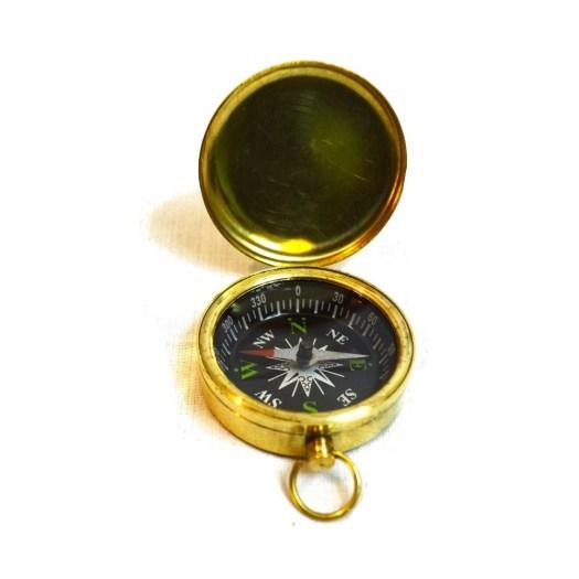 Small Vintage Brass Pocket Compass - Antikcart