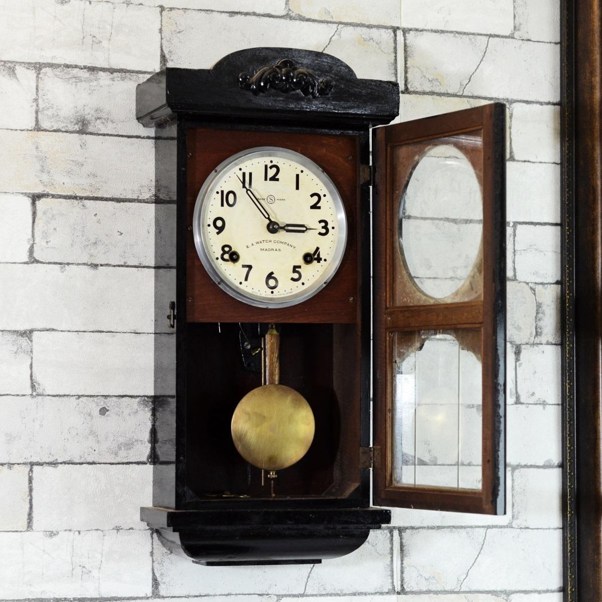Seikosha Mini Tower 1940 Pendulum Wall Clock Antikcart